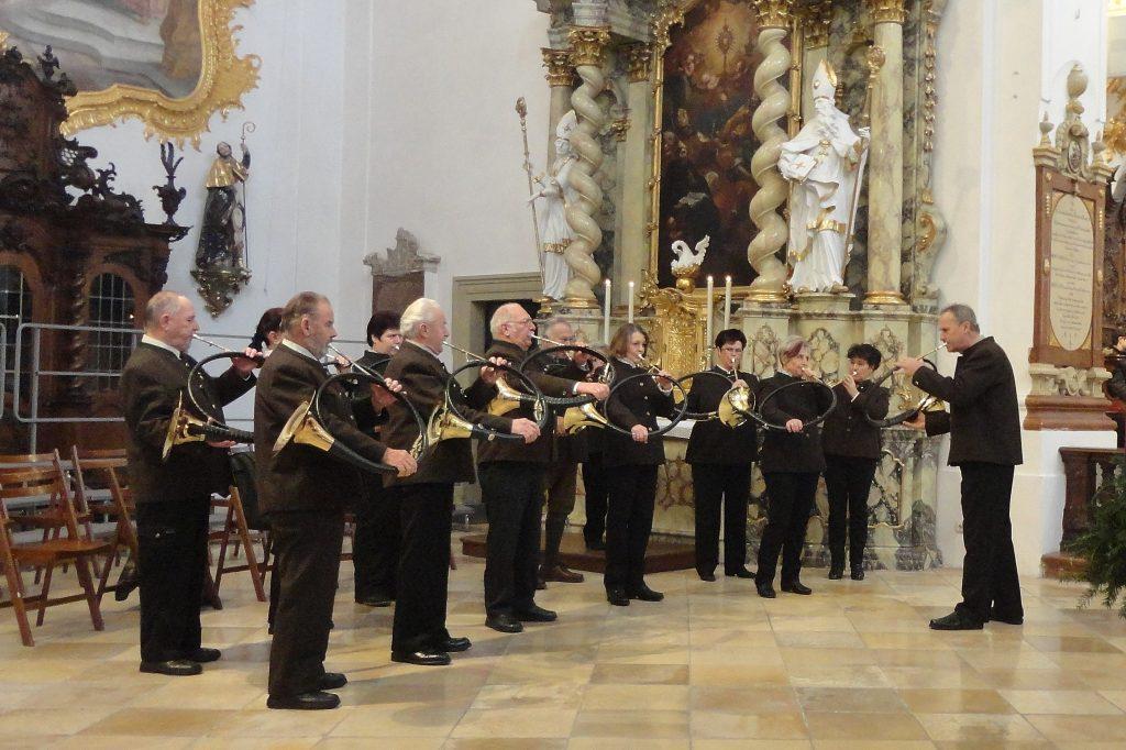 BJV Parforcehornbläsergruppe Regensburg/Hornmeister Wolfgang Bauer